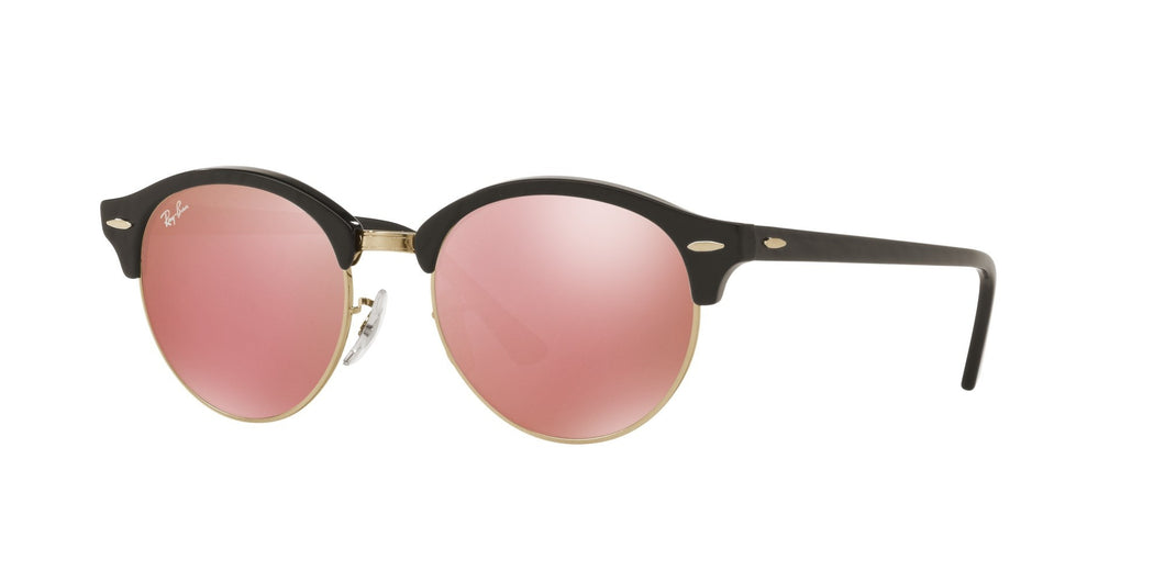 Ray-ban clubround RB4246 1197Z2 tortoise gold pink mirror lenses sunglasses eyewear buy online best price