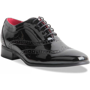 Plain Patent Formal Office Shoes - Borsalino (Patent Black)