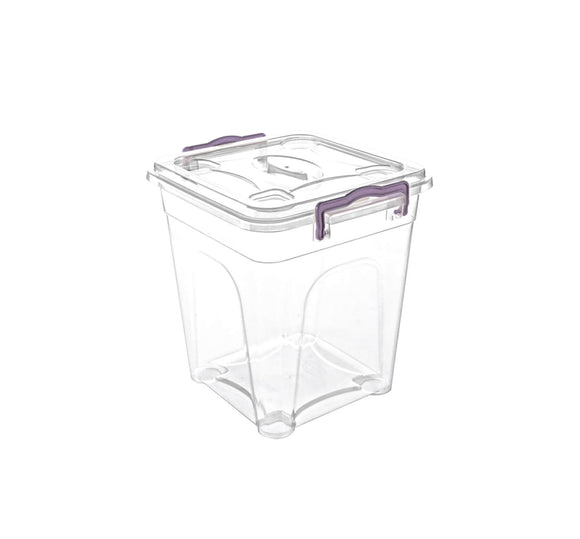 Plastic Storage Box With Lid - 16L