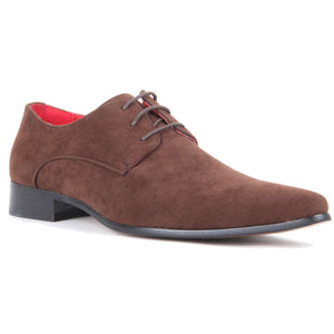 Derby Shoes Genuine Leather Lining Lace Up - Azurra (Brown)