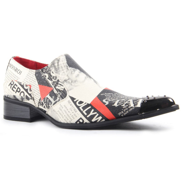 Marilyn Monroe Print Slip On Metal Cap Toe - Retro