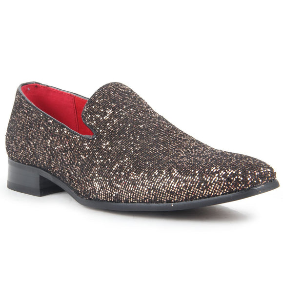 Glitter Sequin Diamond Loafers - East End (Bronze)