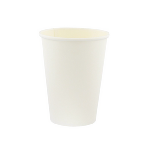 Go-Pak White Single Wall Hot Drink Paper Cups. (Box of 1000) (12oz)