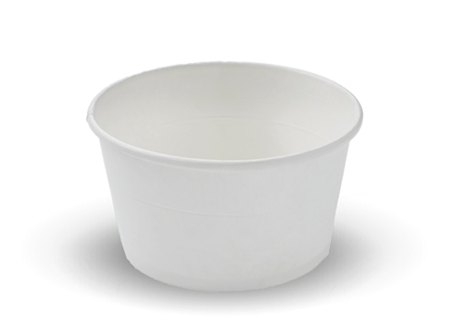 H-Pack White Plain Paper Soup Bowl Containers. (Box of 600) (26 oz / 750 ml)