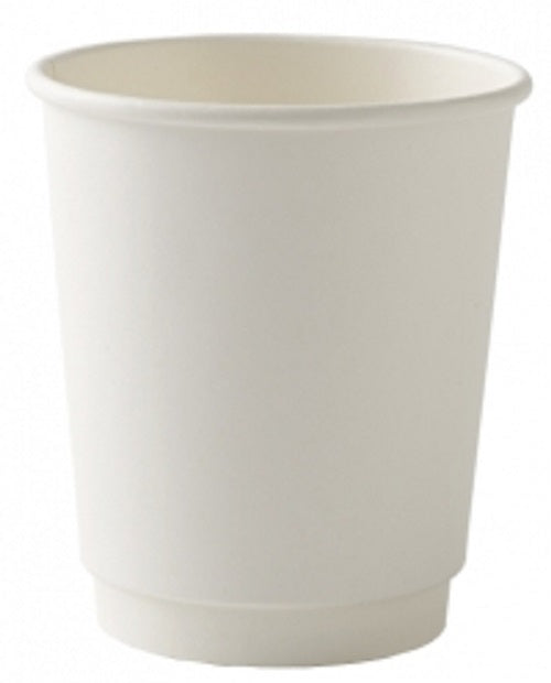 Dispo White Double Wall Hot Drink Paper Cups. (Box of 500) (8oz)