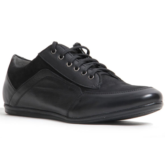 Men Leather Casual Flat Heel Blucher Lace-up Shoes