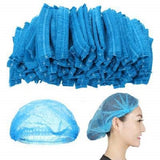 Disposable Elastic Mob Caps Blue Hair Cover Net. (21 inch) (Box of 1000)