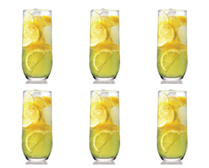 Highball Clear Tumbler Drinking Glasses Set of 6, 315cc - SUD25