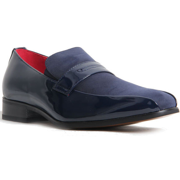 Padded Insole Smart Faux Suede Shoes - Monzese (Navy)