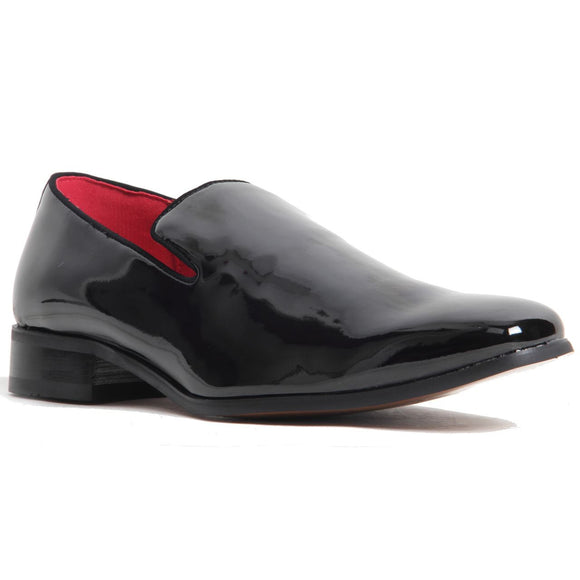Fashion Loafer Wedding Party Shoes - Justin (Patent Black)