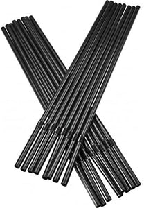 Black Bendy Drinking Cocktail Straws. Biodegradable. (10000 Pieces) (195 x 5 mm)