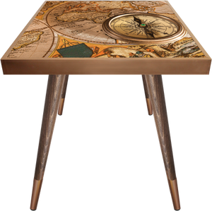 Side Table Square Compass