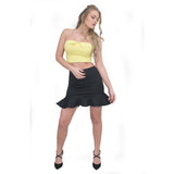 Jolie Max Women Fishtail Mini Skirt Stretch Bodycon Pleated Edge Sizes 8 to 14