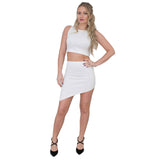 Jolie Max Women Asymetric Cut Mini Skirt Size 8 to 12