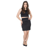 Womens Ladies Crop Top and Skirt Set Size 8 to 14