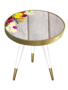 Side Table Round Flower