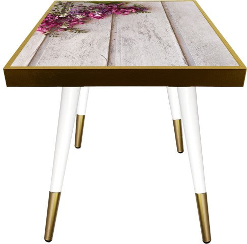 Side Table Square Flower