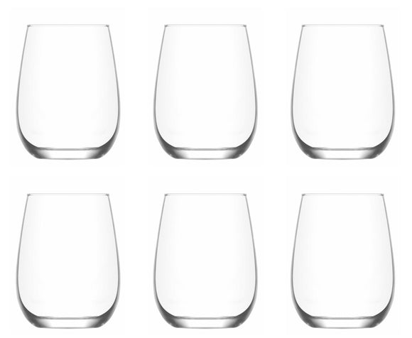 Tumbler Drink Glasses. Juice Water Whiskey Tumblers. (680 ml) (Pack of 6)