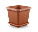 Large Square Flower Plant Pot and Saucer. (25.5 Lt / 44 Lt / 74.3 Lt).