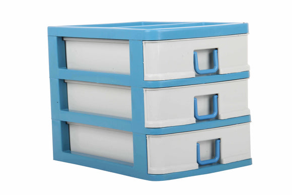 3 Drawer Small Storage Unit Organiser Tower Box
