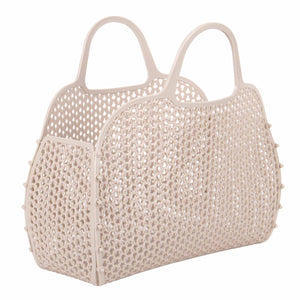 Vintage Style Plastic Mini Bag - Dark Beige
