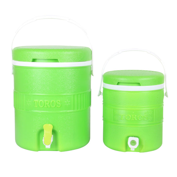 Set of 2 Thermos Flask with Tap - 15L & 5L