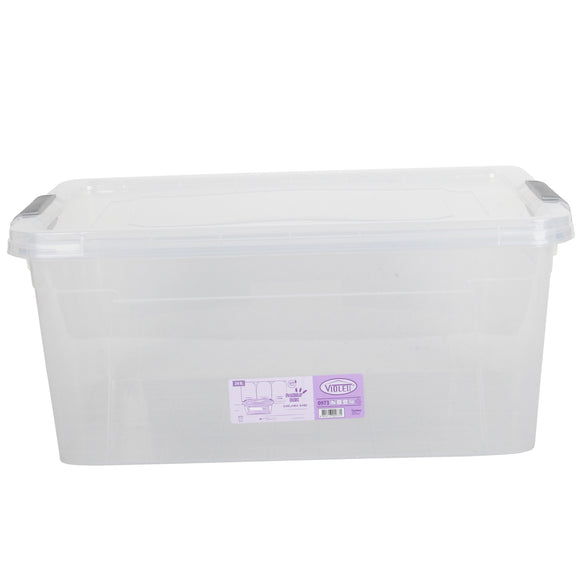 Plastic Storage Box Containers With Lid - 24L