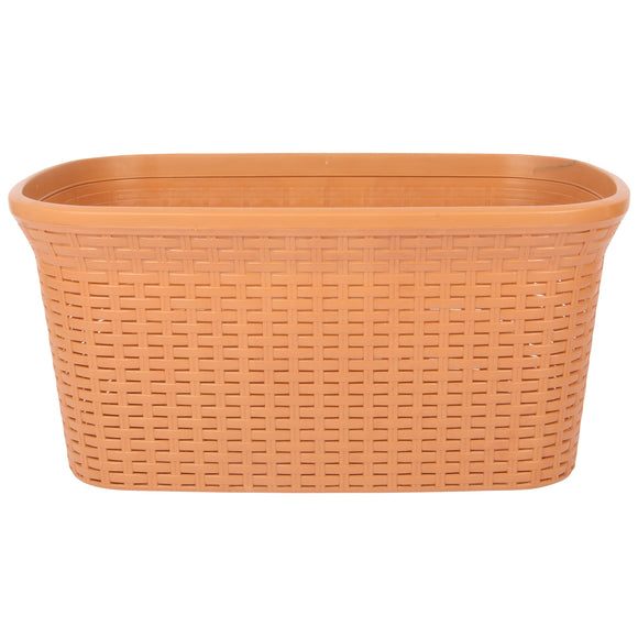 Solid Beige Laundry Basket