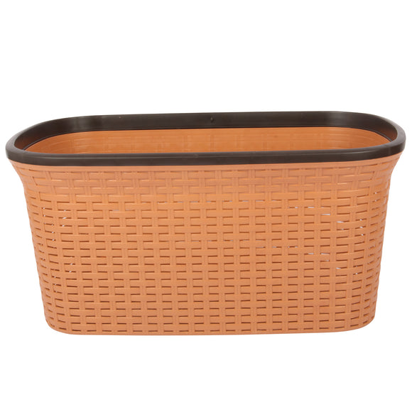 Beige with Black Edge Laundry Basket