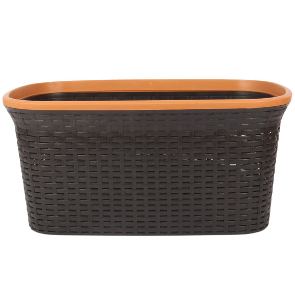 Brown with Beige Edge Laundry Basket