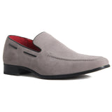Suede Heavy Stitched Loafer - Runu (Suede Grey)