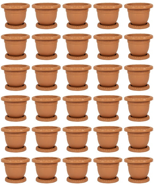 Plastic Round Flower Plant Pot Saucer Planter Pack Of 30