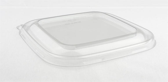 Sabert rPet Lid For Square Base Pulp Bowl. PUL54124. (Box of 300)