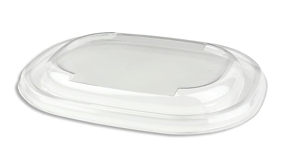 Sabert rPet Lid For Oval Eco Street Pulp Bowl. PUL58021. (Box of 300)