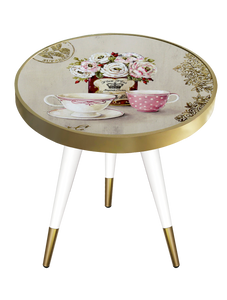 Side Table Round Tea Time