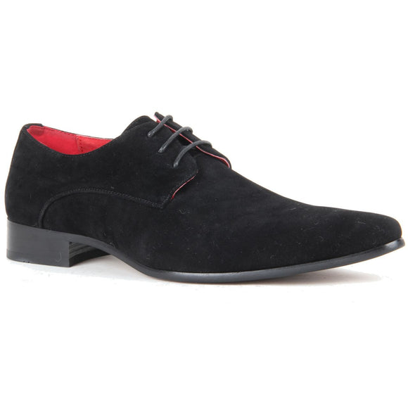 Derby Shoes Genuine Leather Lining Lace Up - Azurra (Black)