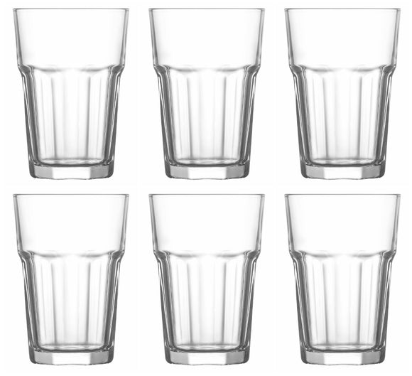 Highball Clear Drinking Glasses Pack of 6 Tumbler, 365cc - ARA265