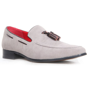 Decorative Stitch Western Heel Shoes - Jersey (Suede Grey)