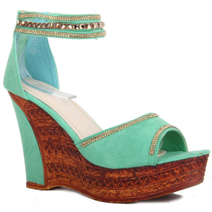 High Heel Platform Sandals - H20231 (Green)