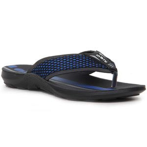 Netted Front Striped Casual Flip Flop Sandals - LP29 (Blue)