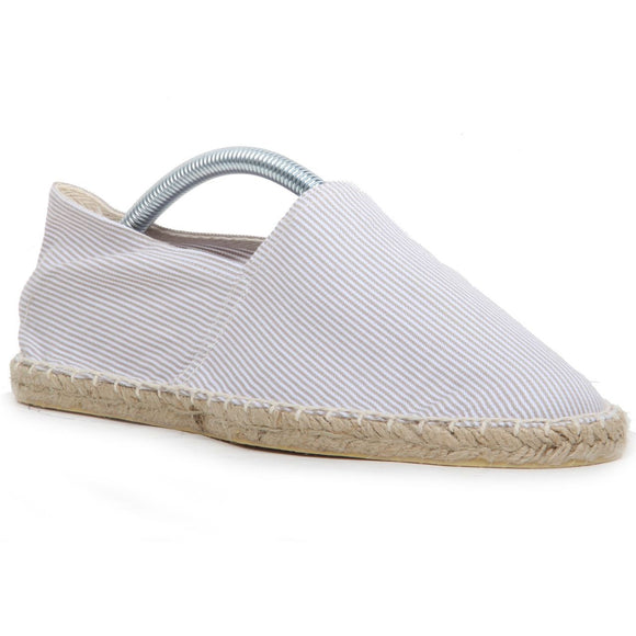 Expadrille Striped Casual hand Stitched Textile - Burton Espadrilles