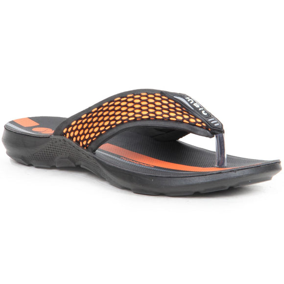 Netted Front Striped Casual Flip Flop Sandals - LP29 (Orange)