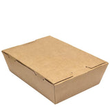 Kraft Take Away Food Box Container. No Window. (Box of 120) (195 x 140 x 65 mm)