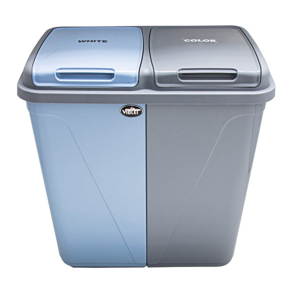 Dual Compartment Laundry / Waste Recycling Bin - 90L