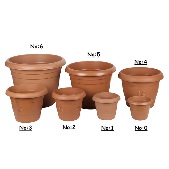 Strong Plastic Round Flower Plant Pot
