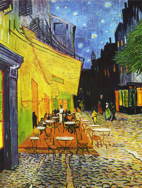 Cafe Terrace at Night  by Van Gogh - 1000 pc. jigsaw puzzle Cafe Terrace at Night  by Van Gogh - 1000 pc. jigsaw puzzle