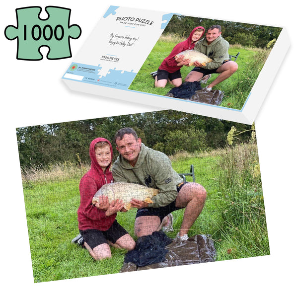 Fishing Gift - 1000 piece photo Jigsaw Puzzle