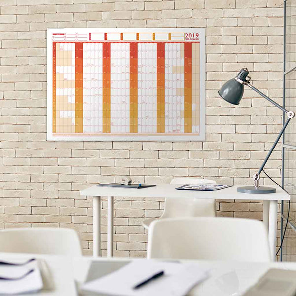 2019 Large Year Wall Chart and Holiday Planner