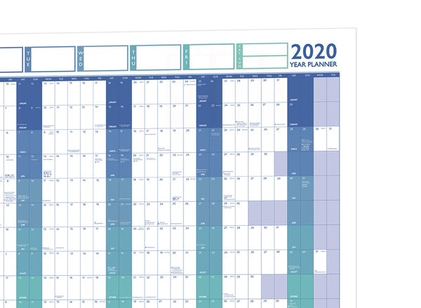 2020 Large Year Wall Chart and Holiday Planner 2020 Large Year Wall Chart and Holiday Planner