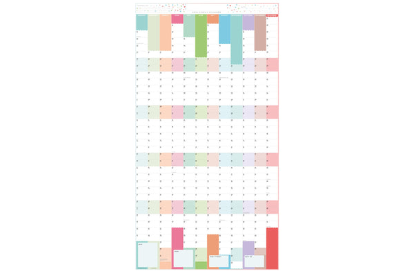 2020 Family Year Planner - Extra-large Laminated Wall Planner-pastel 2020 Family Year Planner - Extra-large Laminated Wall Planner